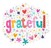 Grateful card — Stock Vector