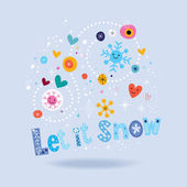 Let it snow card — Stock Vector