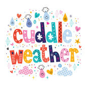 Cuddle weather card — Stock Vector