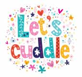 Let's cuddle card — Stock Vector