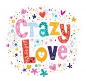 Crazy Love card — Stock Vector