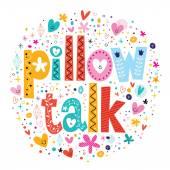 Pillow talk card — ストックベクタ