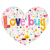 Love bug card — Stock Vector
