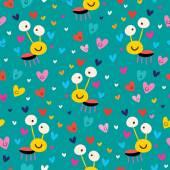 Love bug seamless pattern — Stock Vector