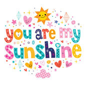 You are my sunshine card — Stock Vector