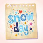 Snow day notepad paper — Stock Vector