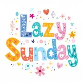 Lazy Sunday card — Stock Vector