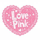 Love Pink card — Stock Vector
