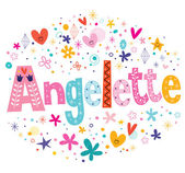 Angelette French girl name — Stock Vector