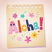 Aloha note pad paper — 图库矢量图片