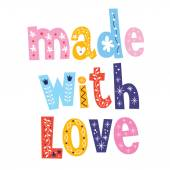 Made with love — Stock Vector