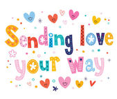 Sending love your way — Stock Vector