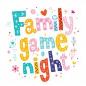 Family game night — Stock Vector