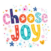 Choose joy text — Stock Vector