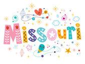 Missouri decorative  text design — Stock Vector