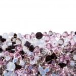 Closeup of purple diamond jewel stones luxury isolated on white — Stock Photo #62341761