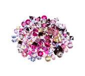 Many of gemstones (diamonds, ruby) isolated on white — Stock Photo