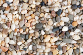 Close-up shot of quartz stones. Natural stones texture. — Stock fotografie