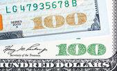 Vecchia fine nuove fatture del dollaro Us di un centinaio. Chiuda sul colpo. — Foto Stock