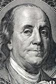 Portrait of Benjamin Franklin on the hundred dollar bill. — Stock Photo