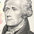 U.S. President Alexander Hamilton on the ten dollar bill. — Stock Photo #69454335