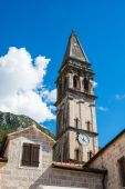 Circh in Perast at Boka Kotor bay (Boka Kotorska), Montenegro, Europe. — Stock Photo