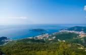 Top view of the seacoast of Budva, Montenegro. — Stock Photo