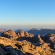 Egypt, Sinai, Mount Moses. View from road on which pilgrims climb the mountain of Moses and dawn — Stock Photo #64382385