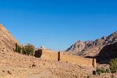 Monastery of St. Catherine and mountains near of Moses mountain, Sinai Egypt — Stock Photo