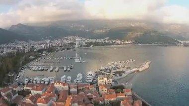 Montenegro, Budva, old town — Stock Video