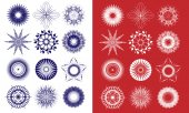 Snowflakes vector — Stock Vector