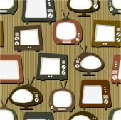 Tv sets on brown background — Stockvektor