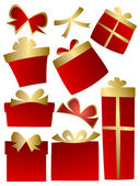 Red gift boxes — Stock Vector