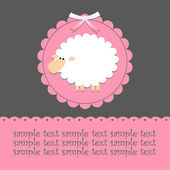 Card with sheep — Vettoriale Stock