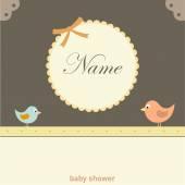 Baby card with birds — Stock Vector