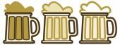 Beer glasses silhouette set — Stock Vector