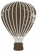 Grunge brown air balloon — Wektor stockowy