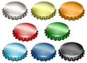 Bottle caps set — Stock Vector