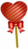 Heart shaped lollipop — Stock Vector