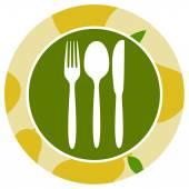 Healthy food icon peer — Stock Vector