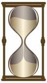 Sand dunkel Gold Uhr — Stockvektor