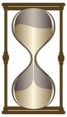 Dark gold sand clock — Stock Vector