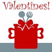 Valentine cooking card — Stockvektor