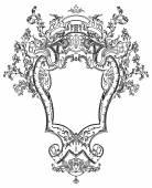Royal antique frame — Stock Vector