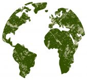 Green continents — Stock Vector