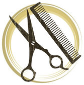 Hairstyle icon — Stock Vector