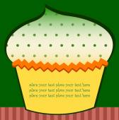 Cupcake with green sprinkles — Stock Vector