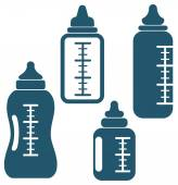 Baby bottles — Stock Vector