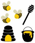 Funny bees — Stock Vector