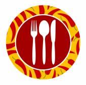Healthy food icon — Stock Vector